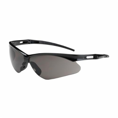 Bouton® 250-AN-10112 Anser™ Dual Lens Lightweight Protective Glasses With Adjustable Neck Cord, Anti-Scratch, Gray Lens, Semi-Rimless Frame, Black, Nylon Frame, Polycarbonate Lens, ANSI Z87.1+