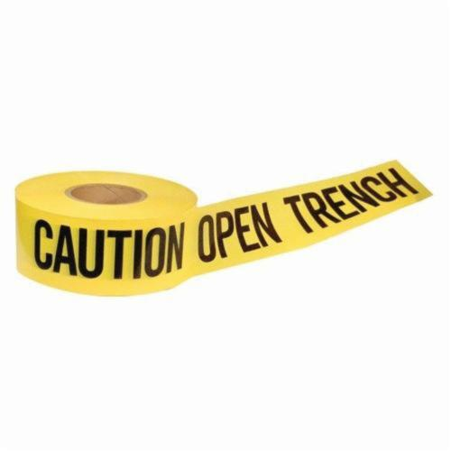 C.H.Hanson® 16007 Standard Grade Barricade Safety Tape, Caution Open Trench, 3 in W x 1000 ft L, Yellow