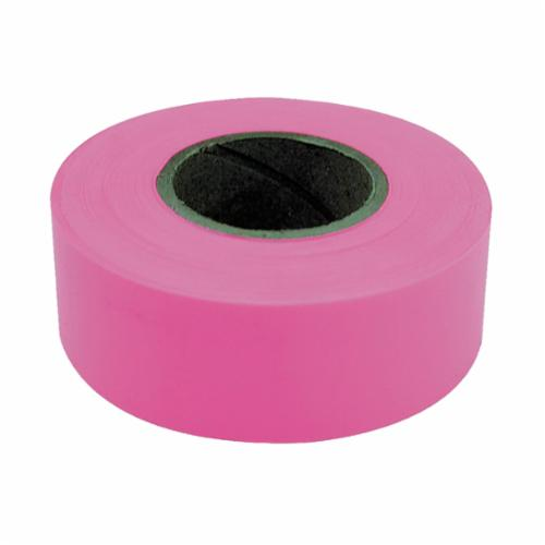 C.H.Hanson® 17003 Flagging Tape, Fluorescent Pink, 150 ft L x 1-3/16 in W, PVC