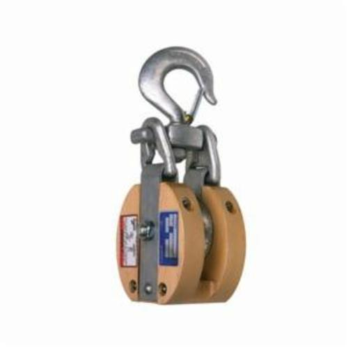 Campbell® 7267196 3074V Safety Locking Single Sheave Snatch Block, Manila Rope Cable, 7/8 in, 3000 lb Load, 1/2 in ID x 3 in OD