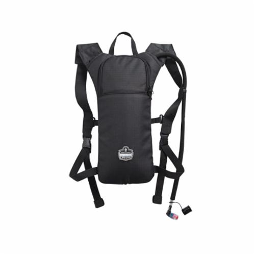 Chill-Its® 13155 5155 Low Profile Hydration Pack, 2 L/70 oz/2.2 hr, 600D Polyester Shell/Vinyl Bladder, Black, Zipper Closure