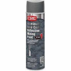CRC® 18020 Seal Coat® Extremely Flammable Reflective Upright Mining Spray Paint, 20 oz Container, Liquid Form, Aluminum/Silver, 12 hr Curing