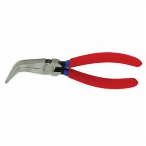 Crescent® 8886CVN Solid Joint Needle Nose Plier, 1 in L x 11/16 in W, Bent/Curved/Serrated Forged Alloy Steel Jaw, 6 in OAL