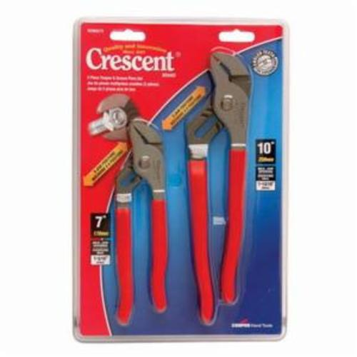 Crescent® R200SET2 Plier Set, Tongue and Groove, 2 Pieces, Straight Jaw Surface, ASME B107.23M-2004