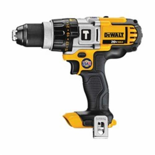 DeWALT® DCD985B High Performance Premium Cordless Hammer Drill, 1/2 in Metal Ratcheting Chuck, 20 VDC, 0 to 575/0 to 1350/0 to 2000 rpm No-Load, Lithium-Ion Battery