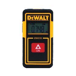 DeWALT® DW030PL Pocket Laser Distance Measurer, Plastic, 30 ft Measuring, 1/4 in at 30 ft Accuracy, LCD Display, Lithium-Ion Battery