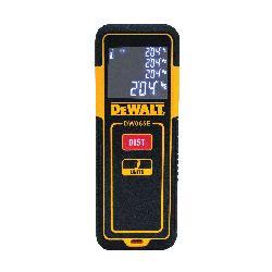 DeWALT® DW065E Laser Distance Measurer, Plastic, 65 ft Measuring, 1/8 in Accuracy, LCD Display, AAA Battery