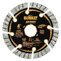 DeWALT® DW4711T HP™ Turbo Segmented Rim Diamond Saw Blade, 4 in Dia Blade, 1 in D Cutting, 7/8 in Arbor/Shank, Fast Cutting Cutting