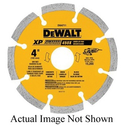DeWALT® DW4745 Extended Performance Extended Performance Segmented Diamond Blade, 12 in Dia Blade, 4 in D Cutting, 1 in/20 mm Arbor/Shank, Dry Cutting
