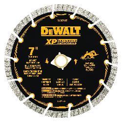 DeWALT® DW4714T HP™ Turbo Segmented Rim Diamond Saw Blade, 7 in Dia Blade, 2-1/4 in D Cutting, 7/8 in Arbor/Shank, Fast Cutting Cutting