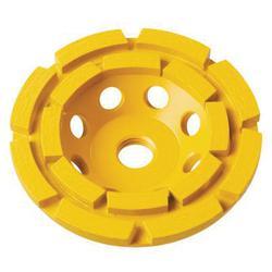 DeWALT® XP™ DW4772 Double Row Cup Grinding Wheel, 4 in Dia x 1 in THK, Diamond Matrix Abrasive