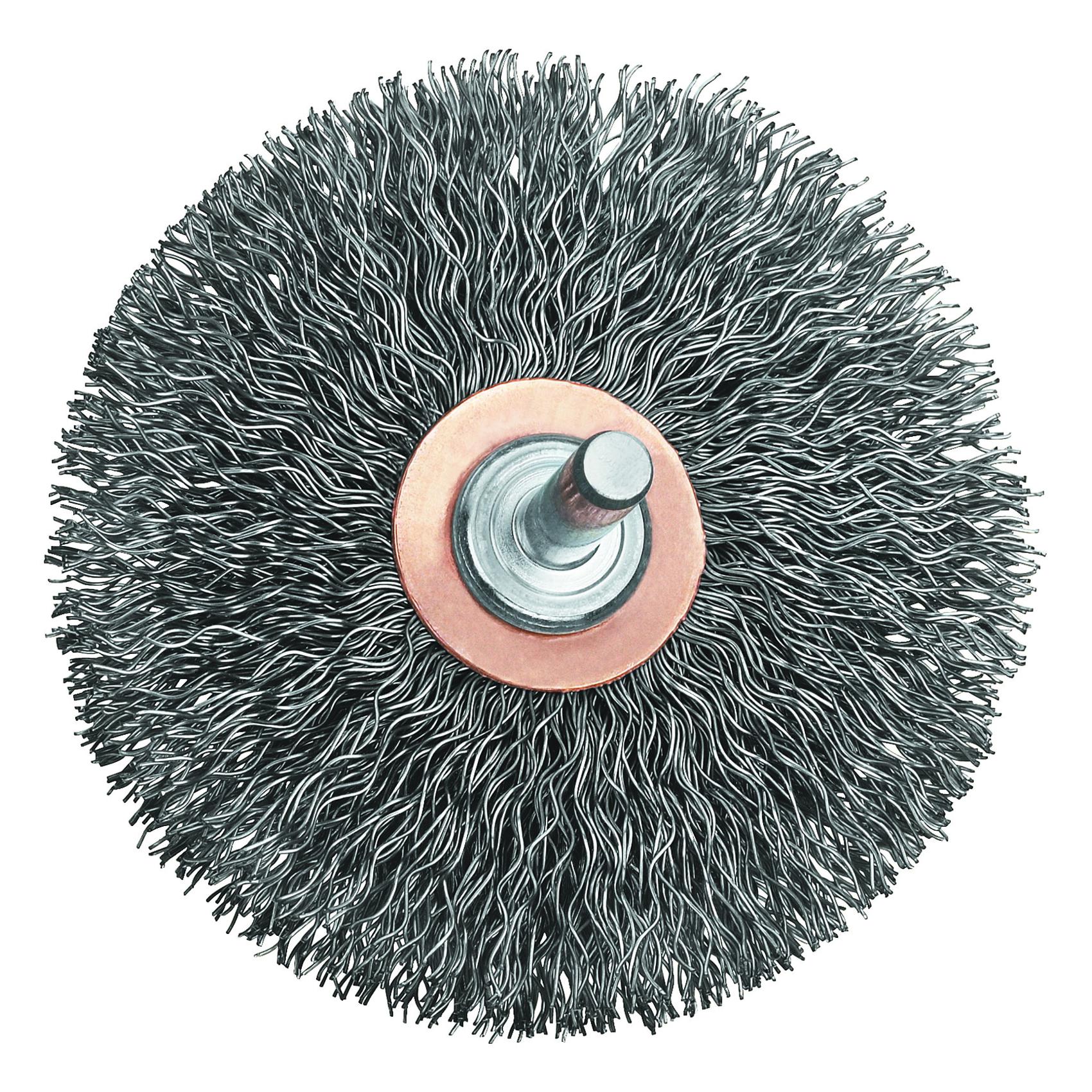 DeWALT® HP™ DW49008 Flared Wheel Brush, 3 in Dia Brush, 1/2 in W Face, 0.014 in Dia Crimped Filament/Wire