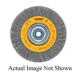 DeWALT® HP™ DW4905 Wide Face Heavy Duty Bench Grinder Brush, 6 in Dia Brush, 1 in W Face, 0.014 in Dia Crimped Filament/Wire, 5/8 to 1/2 in Arbor Hole