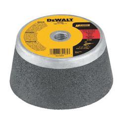 DeWALT® HP™ DW4960 Flaring Cup Wheel, 4 in Dia x 2 in THK, 16 Grit, Aluminum Oxide Abrasive