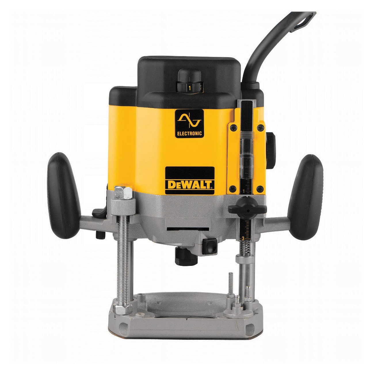 DeWALT® DW625 EVS Large Plunge Router Kit, 1/4 in, 1/2 in Chuck, 8000 to 22000 rpm, 3 hp, 120 VAC, Slide Switch