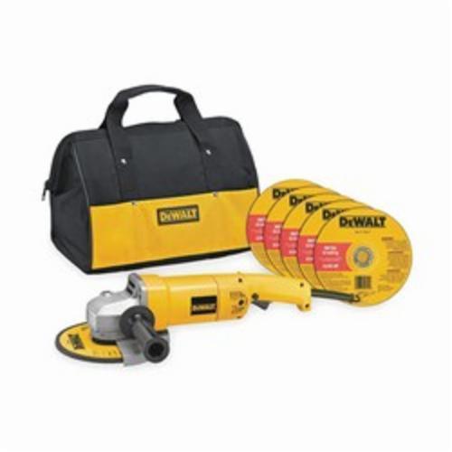 DeWALT® DW840K Medium Angle Grinder, 7 in Dia Wheel, 5/8-11 Arbor/Shank, 120 VAC, Yellow, Trigger Switch