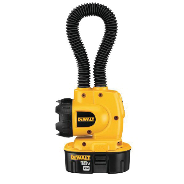 DeWALT® DW919 Heavy Duty Cordless Floodlight, Xenon Lamp, 14.4 VDC, Upto 8 hr Run-Time Ni-Cd Battery, Tool Only