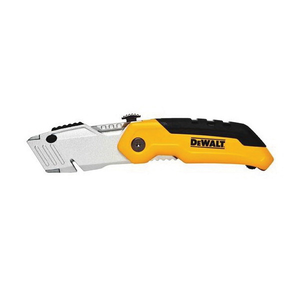 DeWALT® DWHT10035L Folding Utility Knife, 2-1/2 in L Blade, Retractable Stainless Steel Blade