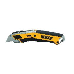 DeWALT® DWHT10295 Utility Knife, Retractable Blade, Tool Free, Carbon Steel Blade, 5 Blades Included, 7 in OAL