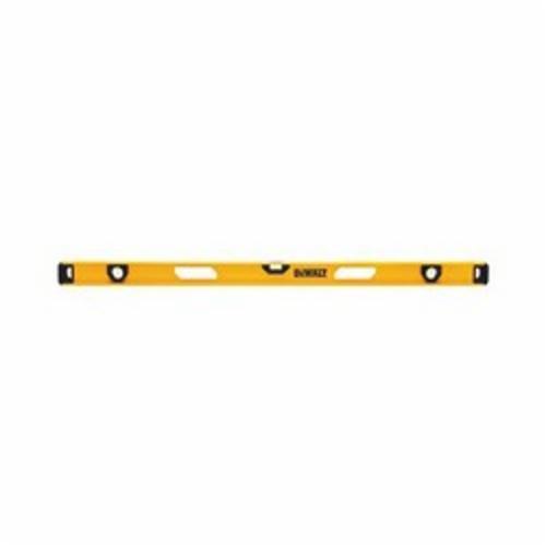DeWALT® DWHT42166 Non-Magnetic Premium I-Beam Level, 48 in L, 3 Vials, (1) Level, (2) Plumb Vial Position, 0.0005 in, Aluminum