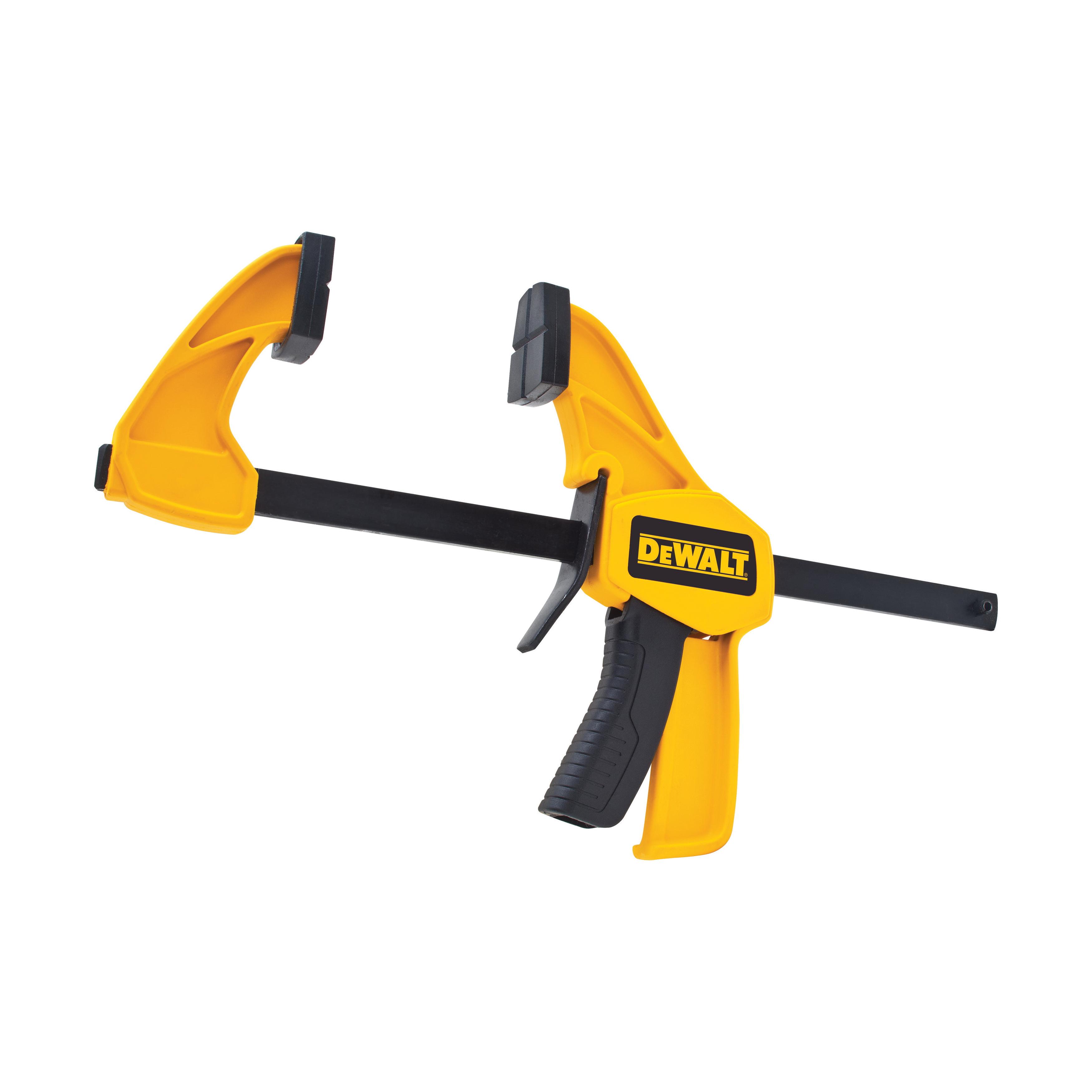 DeWALT® DWHT83139 1-Handed Medium Trigger Clamp, 6 in Clamping, 2-7/16 in D Throat, Steel Bar