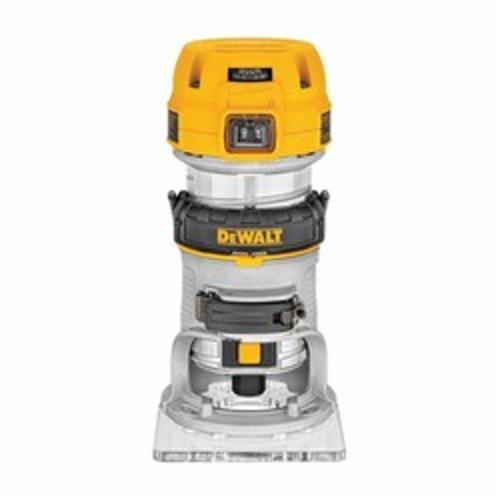 DeWALT® DWP611 Compact Variable Speed Premium Router With LED's, Rocker Switch, 1/4 in Chuck, 16000 to 27000 rpm Speed, 1-1/4 hp, 120 VAC