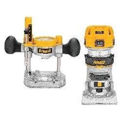 DeWALT® DWP611PK Compact Plunge Variable Speed Premium Router Kit With LED's, Rocker Switch, 1/4 in Chuck, 16000 to 27000 rpm Speed, 1-1/4 hp, 120 VAC