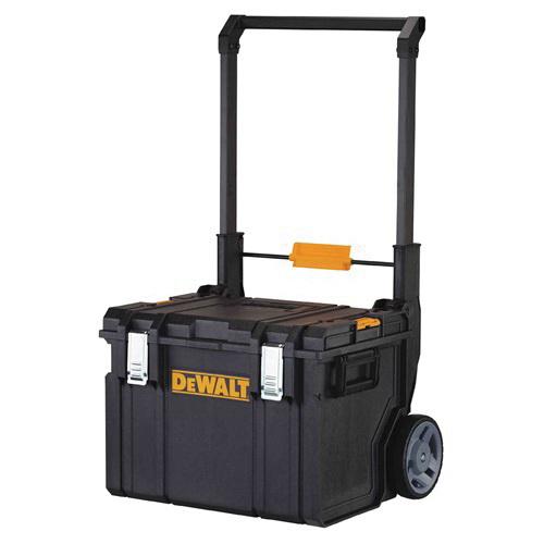 DeWALT® ToughSystem® DWST08250 Mobile Storage Cabinet, 23-3/8 in L x 18-3/4 in W x 38-7/8 in H, Plastic, Black