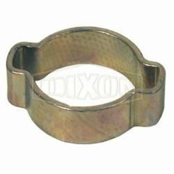 Dixon® 1518 Double Ear Pinch-On Clamp, 5/8 in Nominal, 0.591 in Closed Dia x 0.709 in Open Dia, Steel, Domestic