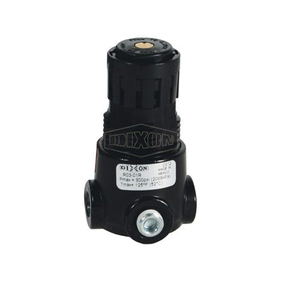 Wilkerson® by Dixon® R03-02R Self-Relieving Standard Miniature Regulator Without Gauge, 1/4 in NPT, 15 scfm Flow Rate, 0 to 300 psig/2 to 125 psi Adjustable Secondary Pressure