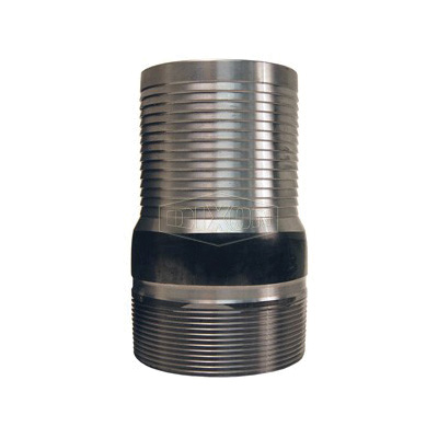 Dixon® ST30 King™ No Knurl Combination Nipple, 2-1/2 in x 5-9/16 in L Hose Shank x MNPT, Carbon Steel, Unplated, Domestic