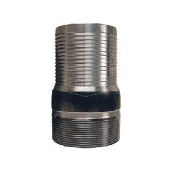 Dixon® ST60 King™ No Knurl Combination Nipple, 6 in x 11 in L Hose Shank x MNPT, Carbon Steel, Unplated