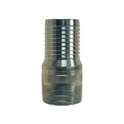 Dixon® STC20 King™ No Knurl Combination Nipple, 1-1/2 in x 4-5/32 in L Hose Shank x MNPT, Carbon Steel, Zinc Plated, Domestic
