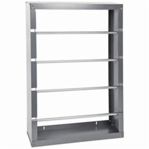 DURHAM MFG® 368-95 Wall Mount Wire Spool Rack With 4 Rod, 5-7/8 in L x 26-1/8 in W x 36-1/2 in H, Cold Rolled Steel, Gray