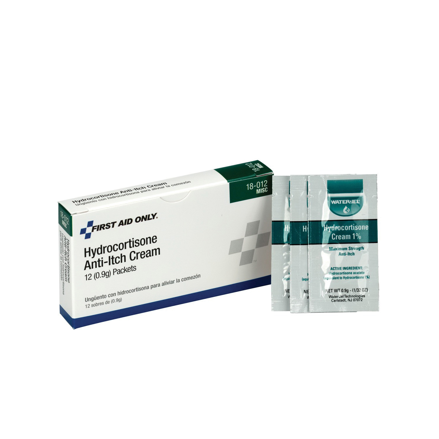 First Aid Only® 18-012 Hydrocortisone Cream, Unit Dose Pack Packing
