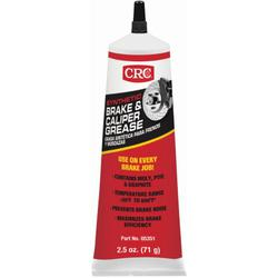 CRC® 05351 Brake Caliper Non-Flammable Synthetic Grease, 2.5 oz Tube, Semi-Solid Grease, Dark Gray, -30 to 600 deg F