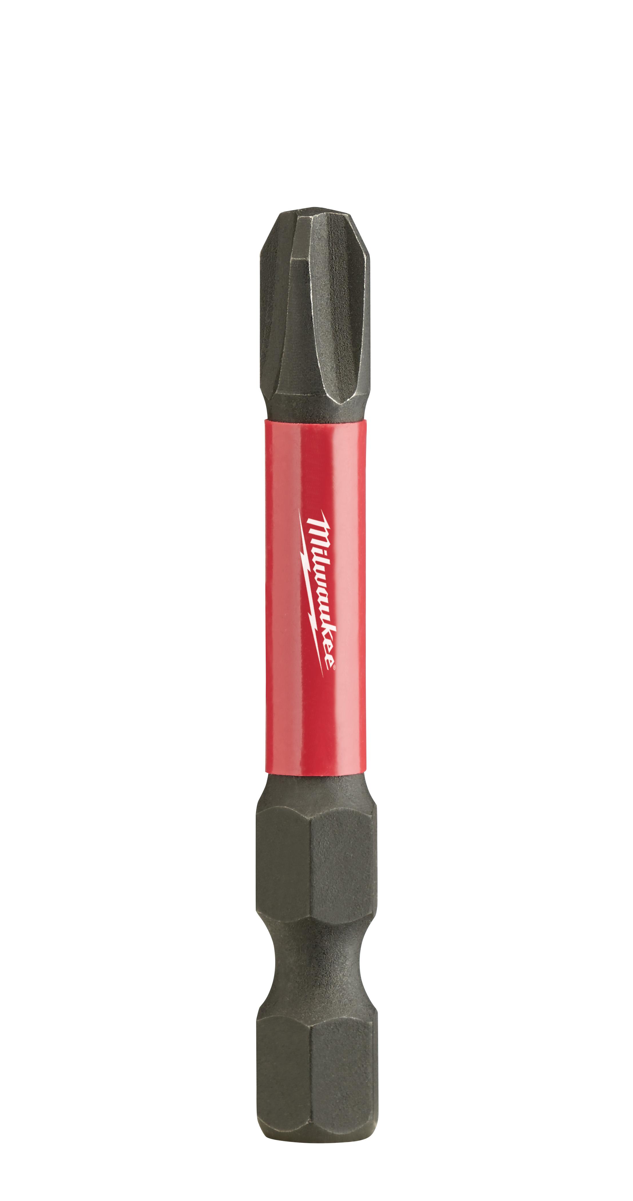 Milwaukee® 48-32-4163 SHOCKWAVE™ Impact Duty™ Impact Power Bit, #3 Phillips® Point, 2 in OAL, 1/4 in, Custom Alloy76™ Steel