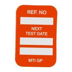 Brady® 104146 Rectangle Insert Tag, 1-1/4 in H x 1-1/4 in W, White on Orange, B-874 Plastic