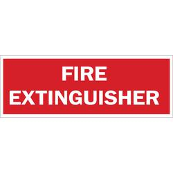 Brady® 25713 Rectangle Fire Sign, No Header, 7 in H x 10 in W, White on Red, B-401 Plastic, Surface Mounting