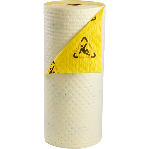 SPC® CHBB30 Heavyweight High Visibility Surface Absorbent Mat and Rug, 100 ft L x 30 in W, 26.7 gal Absorption, Meltblown Polypropylene