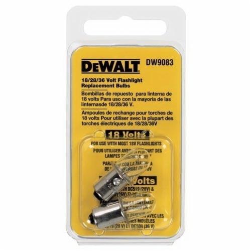 DeWALT® DW9083 Replacement Flashlight Bulb, Xenon Bulb, Push-In Base, 325 Lumens Lumens
