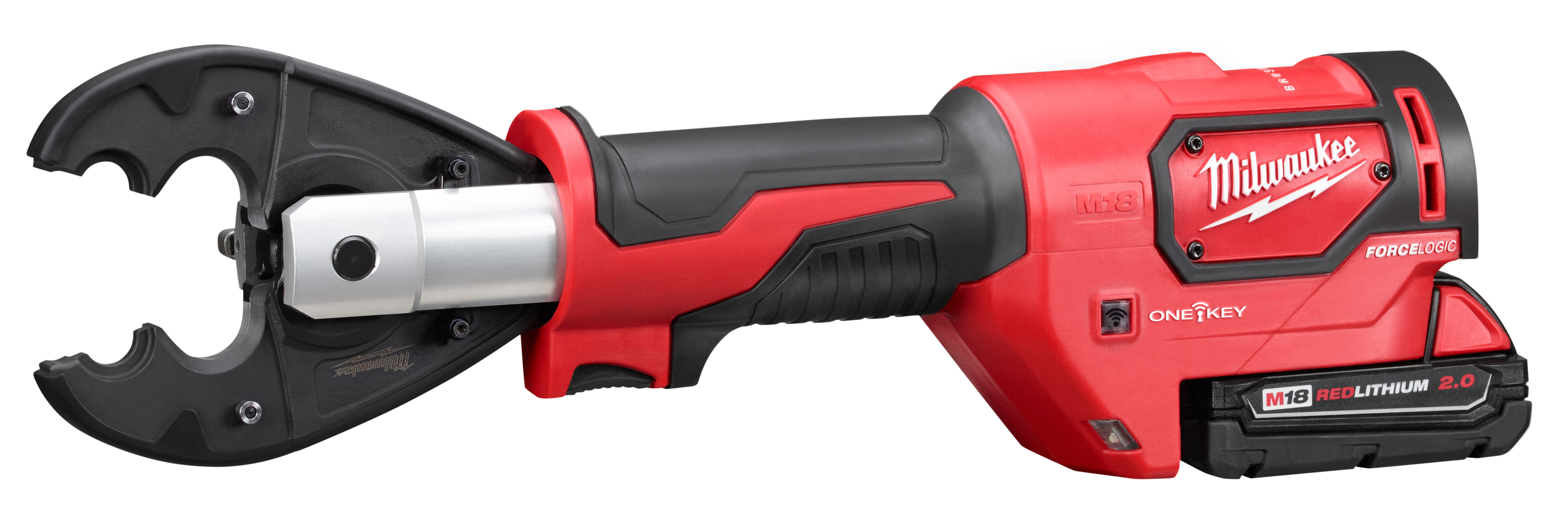 Milwaukee® M18™ FORCE LOGIC™ 2678-22BG Utility Crimping Kit With D3 Grooves and Fixed BG Die, 6 ton Crimping, 18 VDC, Lithium-Ion Battery