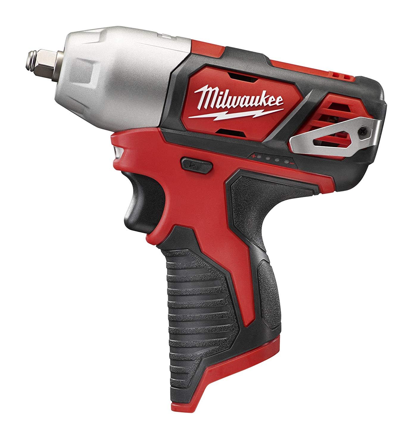 Milwaukee® M12™ 2463-20 Compact Cordless Impact Wrench With Friction Ring, 3/8 in Straight Drive, 3300 bpm, 100 ft-lb Torque, 12 VDC, 6-1/2 in OAL