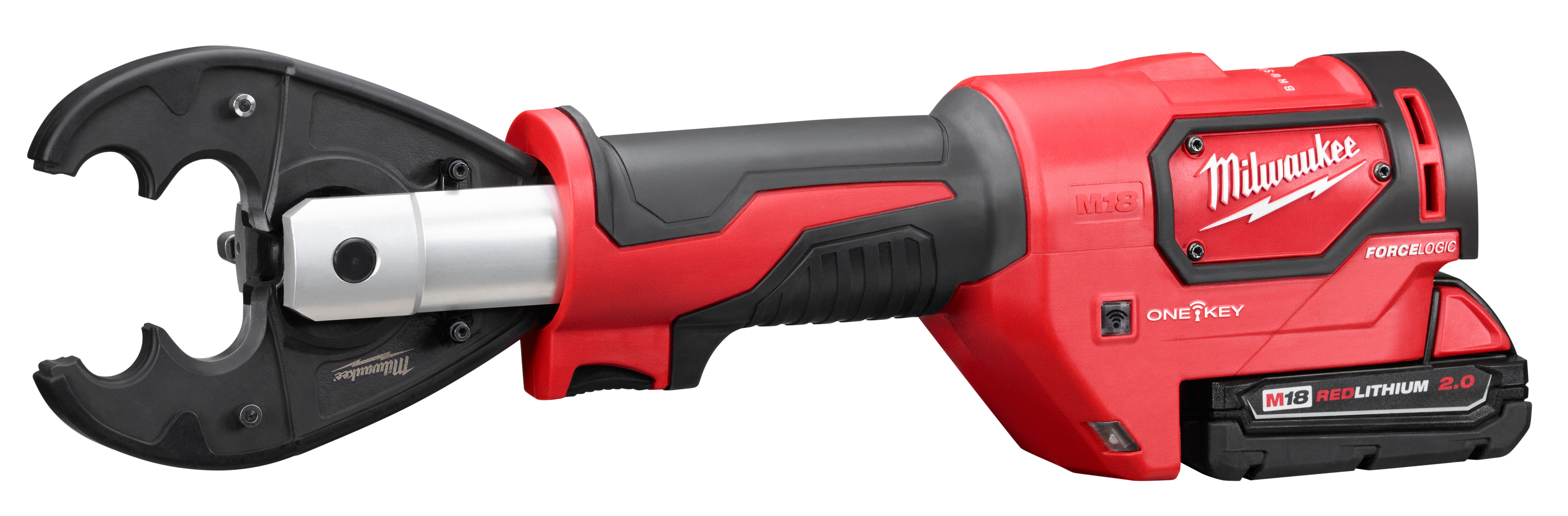 Milwaukee® M18™ FORCE LOGIC™ 2678-22O Utility Crimping Kit With D3 Grooves and Fixed O Die, 6 ton Crimping, 18 VDC, Lithium-Ion Battery