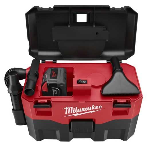 Milwaukee® 0780-20 M28™ Cordless Vacuum, 2 gal, 28 VDC, Lithium-Ion Battery, Plastic Housing