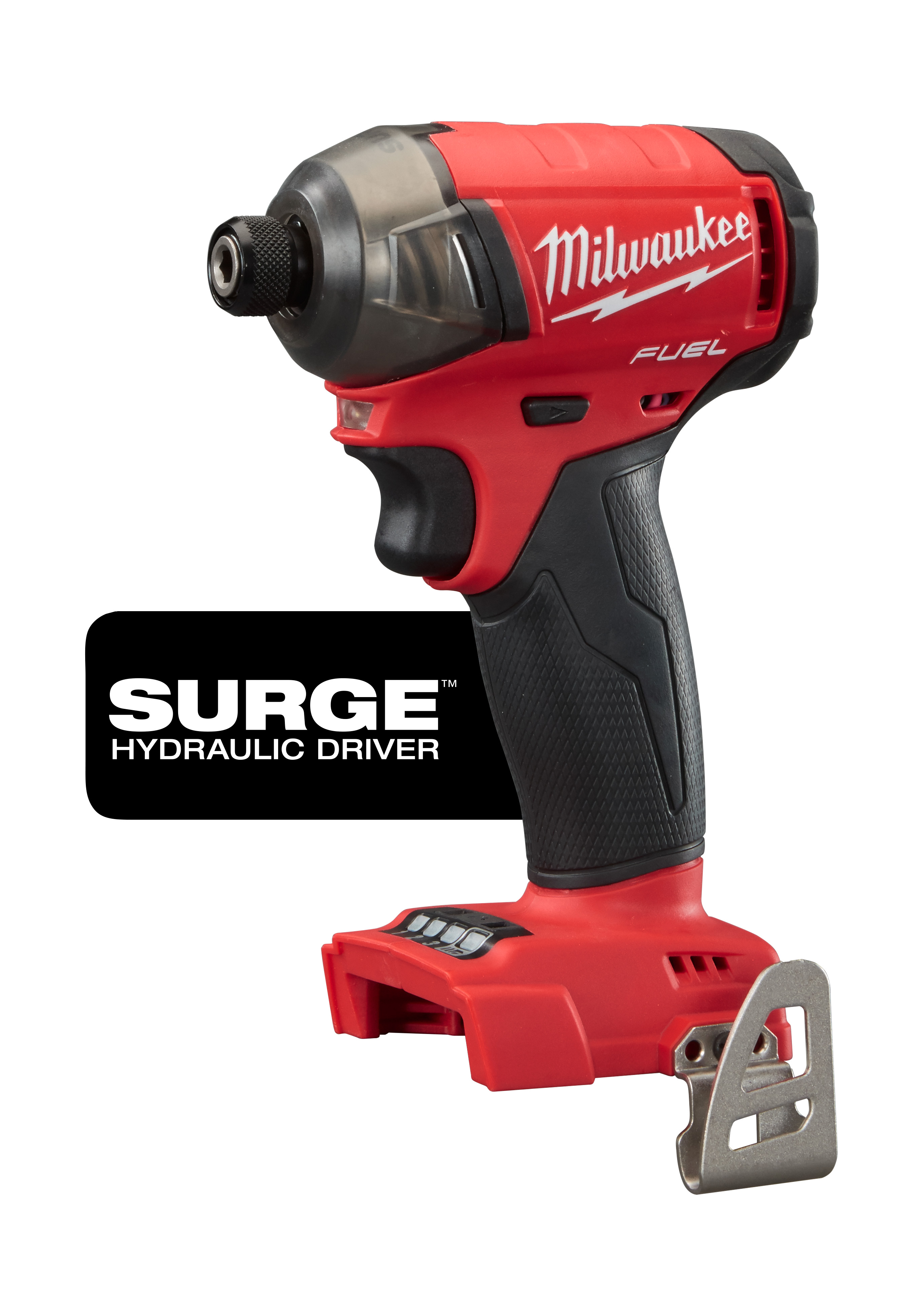 Milwaukee® M18™ FUEL™ 2760-20 SURGE™ Cordless Impact Driver, 1/4 in Hex/Straight Drive, 4000 bpm, 450 in-lb Torque, 18 VDC, 5 in OAL