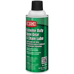 CRC® 03058 Extreme Duty Flammable Tacky Open Gear and Chain Lubricant, 16 oz Aerosol Can, Semi Viscous Liquid, Black, 1.1