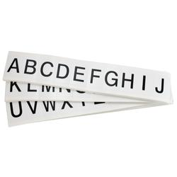 Brady® 97710 9713 Consecutive High Quality Standard Letter Label Kit, Black A to Z Character, 1 in H x 9/16 in W, White Background, B-946 Vinyl