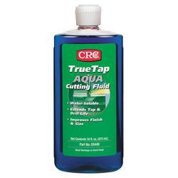 CRC® TrueTap® 03440 Aqua Non-Oily Non-Flammable Water Soluble Cutting Fluid, 16 oz Bottle, Mild Glycol, Transparent Liquid, Blue