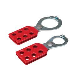 Brady® 105718 Scissor Action Standard Lockout Hasp With Interlocking Tabs, 6 Padlocks, 0.335 in Max Dia Padlock Shackle, LOTO-64 Steel